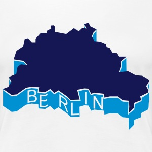 Berlin Umriss 3D Shirt for Girls - Frauen Premium T-Shirt