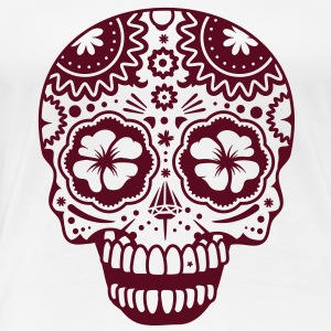 A laughing skull in the style of Sugar Skulls T-Shirts - Women's Premium T-Shirt