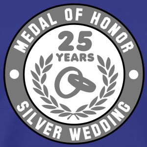 MEDAL OF HONOR 25th SILVER WEDDING 3C T-Shirt - Herre premium T-shirt