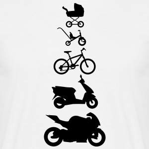 Motorcycle Evolution  T-Shirts - Men's T-Shirt