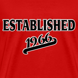 Established 1966 T-shirts - Mannen Premium T-shirt