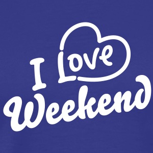 i love /heart) Weekend - Männer Premium T-Shirt
