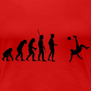 Evolution bicycle kick  T-Shirts - Women's Premium T-Shirt