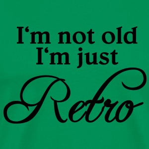 I'm not old, I'm just retro T-shirts - Herre premium T-shirt
