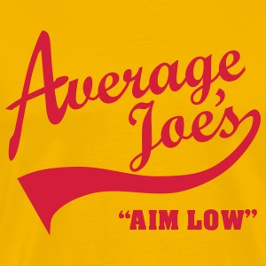 Average Joe's – Aim Low T-shirts - Mannen Premium T-shirt