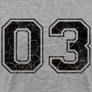 Number 03 in the grunge look T-Shirts - Men's Premium T-Shirt