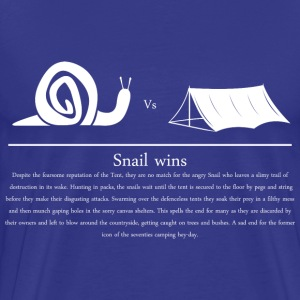 Snail vs Tent - Men's Premium T-Shirt