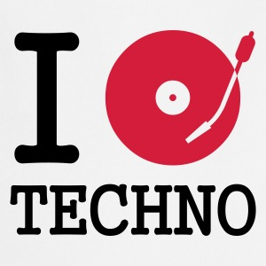 :: I dj / play / listen to techno :-: - Delantal de cocina