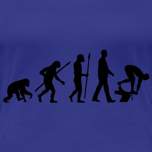 evolution_schwimmer_102012_a_1c T-Shirts - Frauen Premium T-Shirt