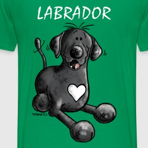 Labbi Love - Labrador Cartoon T-Shirt - Männer Premium T-Shirt
