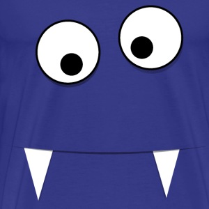 Blue Monster Face - Men's Premium T-Shirt