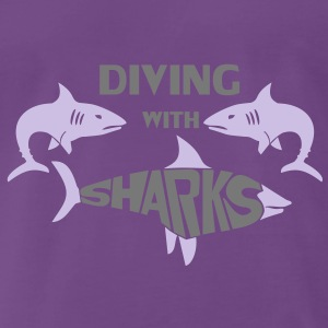 Diving with Sharks T-Shirts - Männer Premium T-Shirt
