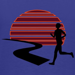 Run Sunset T-Shirt - Männer Premium T-Shirt