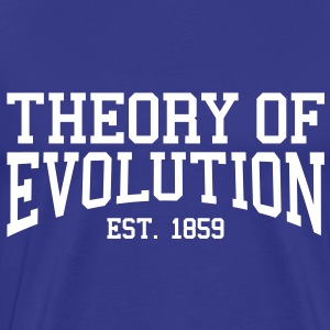 Theory of Evolution - Est. 1859 (Over-Under) T-Shirts - Men's Premium T-Shirt