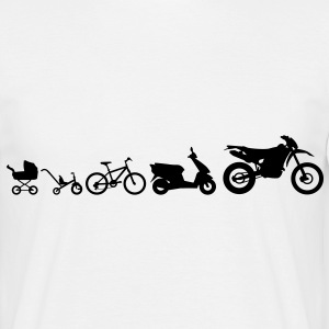 Motorcykel Evolution Endurocross  T-shirts - Herre-T-shirt