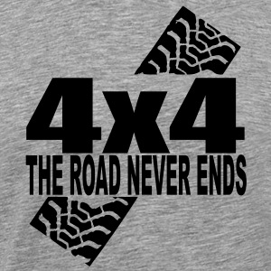 the road never ends T-Shirts - Männer Premium T-Shirt