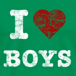 i_love_boys_vintage_hell T-shirts - Mannen Premium T-shirt