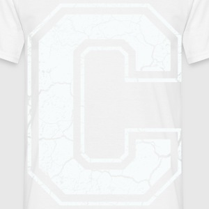 Letter C in white in the used look T-Shirts - Men's T-Shirt