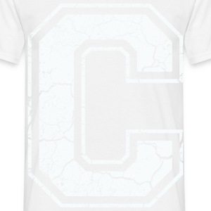 Un caractère C dans blanc in Used Look Tee shirts - T-shirt Homme