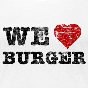 we_love_burger_vintage T-shirts - Premium-T-shirt dam