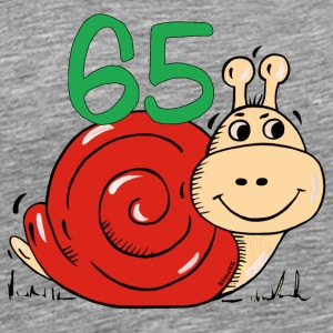 Snail 65 th birthday T-Shirts - Men's Premium T-Shirt