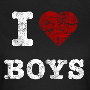 i_love_boys_vintage_hell T-shirts - Vrouwen T-shirt