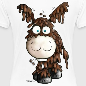 Poitou donkey- Cartoon t-shirt design T-Shirts - Women's Premium T-Shirt