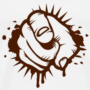 Zeigefinger Graffiti T-Shirts - Männer Premium T-Shirt