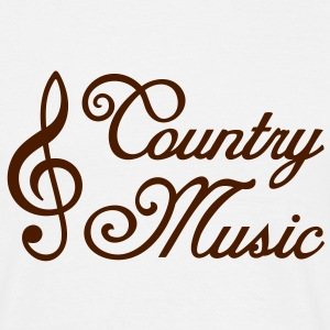 Country Music * Clef * Treble Clef T-shirts - Herre-T-shirt