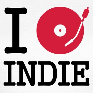 :: I dj / play / listen to indie :-: - T-skjorte for kvinner