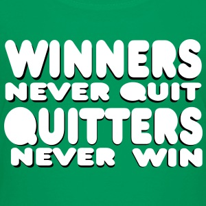 winners never quit Shirts - Teenage Premium T-Shirt