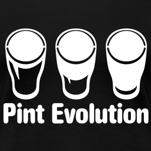 Pint Evolution - beer glass  T-Shirts - Women's Premium T-Shirt