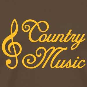 Country Music * Clef * clef de sol Tee shirts - T-shirt Premium Homme