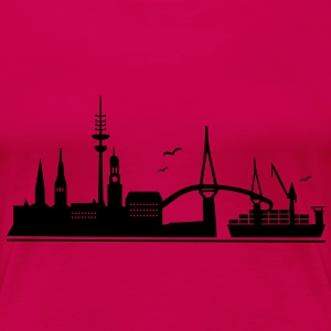 Skyline Hamburg - Frauen Premium T-Shirt