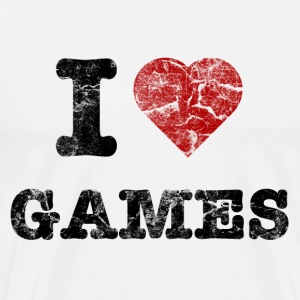i love games vintage dark T-shirts - Mannen Premium T-shirt