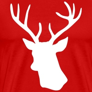 White Stag Deer Head T-Shirts - Men's Premium T-Shirt