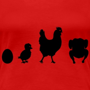 Chicken Evolution  T-skjorter - Premium T-skjorte for kvinner