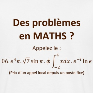 problemes_en_maths_humour Tee shirts - T-shirt Homme