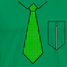 Green tie with pocket T-shirts