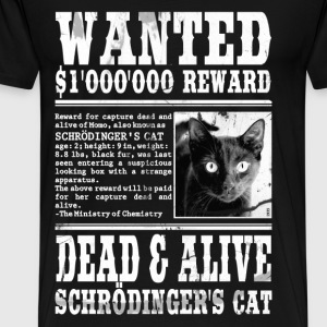 schrödinger's cat wanted white T-Shirts - Men's Premium T-Shirt