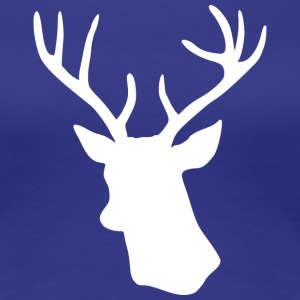 White Stag Deer Head T-Shirts - Women's Premium T-Shirt