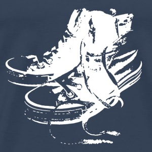 Sneakers White T-Shirts - Men's Premium T-Shirt