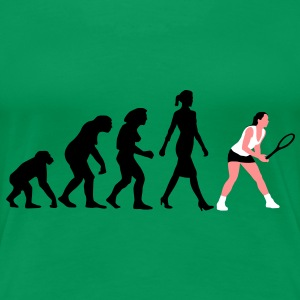 evolution_tennis_frauen_102012_a_3c T-Shirts - Frauen Premium T-Shirt