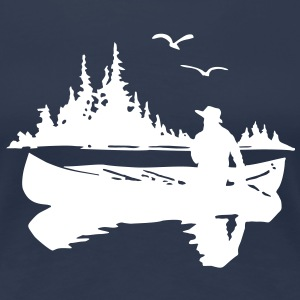 Canoe Kayak Canada Outdoor Fishing t- shirt T-Shirts - Women's Premium T-Shirt
