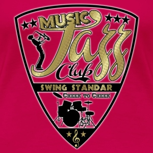music jazz club swing standar T-Shirts - Women's Premium T-Shirt