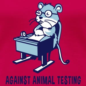 Against Animal Testing - Women's Premium T-Shirt