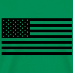 Black US flag - Men's Premium T-Shirt