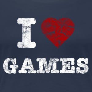 i love games vintage light T-shirts - Vrouwen Premium T-shirt