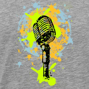 vintage microphone love music graffiti T-Shirts - Men's Premium T-Shirt