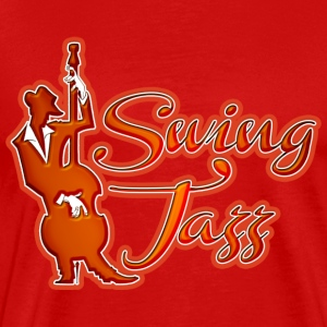 swing jazz  T-Shirts - Men's Premium T-Shirt